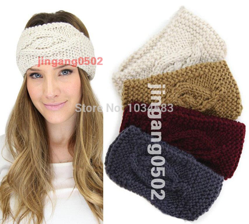 FREE SHIPPING ,2015 new fashion Knitted Turban headband for women Ear Warmer twist wide hair band(China (Mainland))