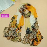 2014 new fashion chiffon brand scarves size 160*50 cm lady fashion Leopard printed multicolor desigual scarf Shawl Bandana