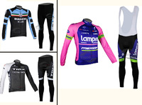 New & Hot! 2014 Cool Wolf Men's Pro Team Cycling Jerseys / Long Sleeve Bicycle Suits / Bike Clothing Set Riding Pant