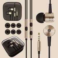 New Original Gold XIAOMI 2nd Piston Earphone 2 II Headphone Headset Earbud with Remote & Mic For MI3 MI2 MI2S MI2A Mi1S M1 Phone