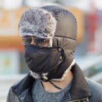Hat male winter thickening lei feng cap male winter outdoor skiing hat rabbit fur winter hat female