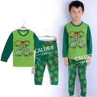 new arrival ninja turtles children pajama set long sleeve cartoon toddler baby boys sleepwear retail pijama kids