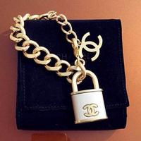 Channel CC 24K Gold Plated Bracelets Chain Bangles Luxury Brand  Bracelet Fashion Evening Party Jewelry
