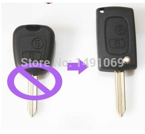 Modified Folding Remote key Shell Flip Key Case Fob 2 Button CONVERSION For Peugeot Partner Boxer Citroen Saxo Xsara SX9 Blade(China (Mainland))