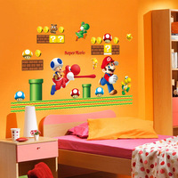 7062 large SUPER MARIO Mario children's cartoon about wall stickers home custom wall stickers