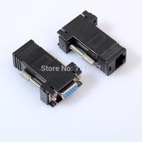 VGA Extender Female to LAN CAT5 CAT6 RJ45 Network Cable Female Adapter,200pcs/lot