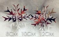 3D Glass Snowflake Christmas Ornaments  8 pcs 8cm 10cm 12cm