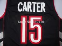 Free Shipping Vince Carter Toronto Jersey #15 Wholesale North Carolina College Cheap Basketball Throwback Jersey Sport Shirt