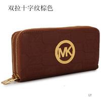 Womens purse Michaelled double zipper wallets Letters Alphabet korss bags name brand purse