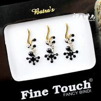 3 pcs /pack Indian Fashion Import black  Eyebrows stickers Bindi Amount posted Fake nose stud Eyebrow nail Lips and nails