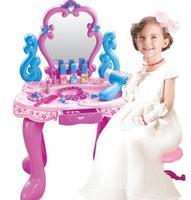 Beautiful dresser girls dream children play house longan sound mirror speaker girls toys Pretend Play Classic Toys no chair