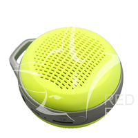 RedFox.Mini  Sport Bluetooth Speaker with Hook for Smartphone Support TF Card FM Radio -Yellow