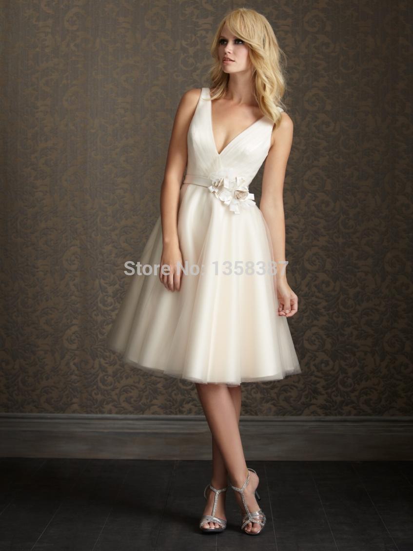 Short Couture Sexy Romantic Fashionable Casamento Vintage