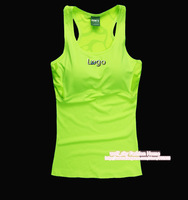 Free shipping 2014 New Women Sports vest  Famous Brand Tank Tops Shockproof Breathable Gym Running Tennis Sports wear With Pad