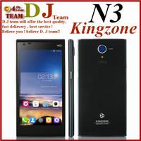 Original KINGZONE N3 4G LTE Cell Phones MTK6582 +6590 Quad Core 5'' Android 4.4 Corning Gorilla Glass IPS 13MP free flip case