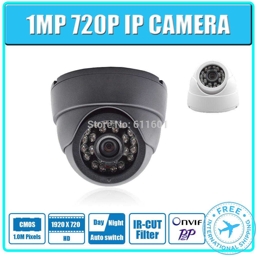 1MP IP Camera 720P 24pcs leds Securiy Dome HD Network CCTV IP Camera Support Phone Android IOS P2P ONVIF2.0 H.264(China (Mainland))