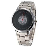 Man's Fashion Dress Paidu Spiral Timetable Watch Alloy Brand Round Quartz Watch