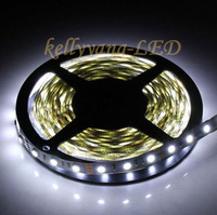 16.4FT 5M 12V 5050 SMD Cold White 60Leds/M Non-Waterproof LED Strip Lights lamp with tracking number