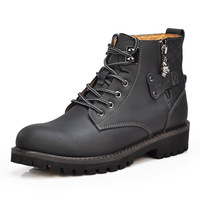 Free Shipping+New Arrival Men's Work Boots Genuine Leather Ankle Boots Wearproof&waterproof Work Boots Outdoor Men Autumn Boots