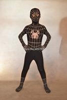 Children's black spider man stretch Lycra Cosplay super hero tights