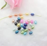 Free shipping-300PCs Random Mixed Pearl Imitation Acrylic Oval Shape Beads 10x7.5mm D2634