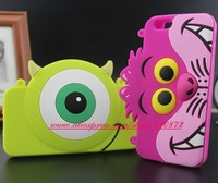 3D Sulley Cat Mike Duck Face Cartoon Bag case for iphone 5 5s Soft Silicon Good cell phone back for iphone5 5s cases with Chain