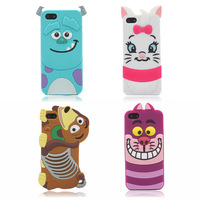 New Cute 3D Cartoon Monster university back Cover Soft Case For iphone 5 5S 5G 5C Free shipping