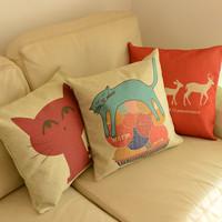 Cat cartoon fluid pillow cover kaozhen cushion