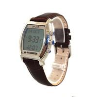 Muslim Waterproof Wrist Azan Watch Islamic Prayer Watch Leather wristband with Hijri calendar Qibla direction /HA-6260
