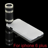 """8X18 Zoom Optical Lens Mobile Phone Telescope Camera For Apple iPhone 6 Plus With 5.5"""" Back Cover Cleaning Cloth 2014 New Hot"""