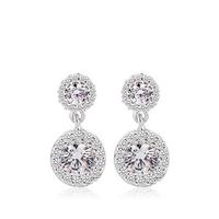Women Love Days Gift Silver Plated Drop Earrings 2015 new fashion women jewelry