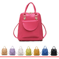 2014 fashion backpack women small female PU backpack leather school bag women casual style school backpacks