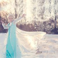 2014 Hot Sell Frozen Elsa Anna Coronation Dress Children Brand Vestidos Kids Clothing Girls Princess Party Dresses for Christmas