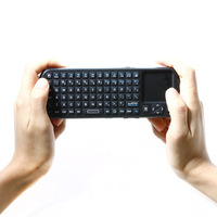 Free Shipping Mini iPazzport 2.4G Wireless Keyboard Mouse Touchpad Handheld with LED Light