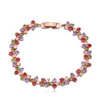 new brand design fashion woman sell well flowers blooming 18K gold bracelet Zircon Bangle Bracelet 111333