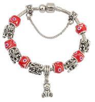 925 Silver European Charm Bracelet Bangle for Women with Murano Glass Beads Fashion Love DIY Jewelry PA1019