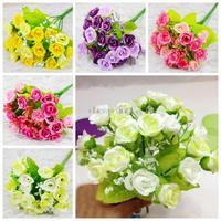 1PCS Bouquet Artificial Rose Flowers Wedding Party Flower Home Decoration Cheap-fine