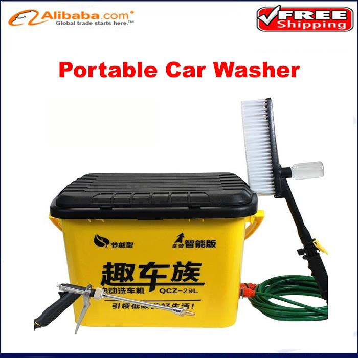 Free shipping!! portable high pressure car washer, 32L large capacity electric car washer washing machine(China (Mainland))