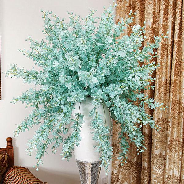 Free shipping (10pcs/lot) Artificial flower silk flower dancing orchid oncidium flowers wedding decoration flower artificial(China (Mainland))