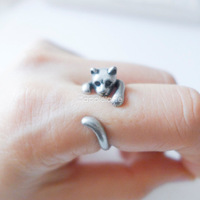 Hot Sale Cat Animal Wrap Ring - Silver For Woman Unique Rings