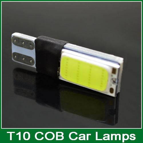 2 high power t10 w5w led cob car led t10 5w5 12v t 10 bule white car light fog Lamp interior light w5w t10 No canbus error free(China (Mainland))