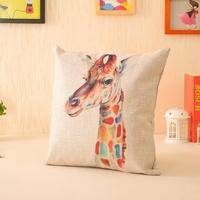 Cartoon animal thick fluid pillow cushion lumbar pillow
