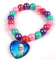 Retail wholesale Frozen bracelet,colorful Chunky bubblegum beads snow queen Elsa Anna bracelet,children girl's bracelet