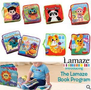 Free shipping, 6pcs/lot Lamaze Educational Toys Cloth Book, 7 items available Funny(China (Mainland))