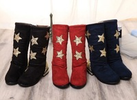 Children High Velvet Boots Genuine Winter Models Bangka Girls Padded Baby Snow Boots Embroidered With Sequins Free Shipping