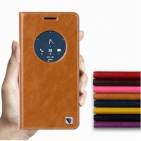 Genuine Leather Luxury Flip Case For Asus Zenfone 5 Zenfone 6 With Stand Holder Window Protective Holster Case Free Shipping