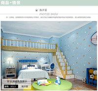 Cartoon American boys kids room wallpaper adhesive-bonded cloth bedroom decoration blue yellow
