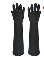 Chmical resistant rubber gloves the acid and alkali resistant latex labor insurance protection thickening extended 60 CMB