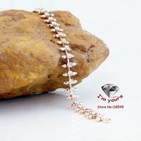 85200238 18K gold plated Russia CC color rose gold zircon Bracelet
