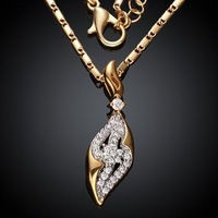 KZCN009-AB // hot sale fashion beautiful Necklace , Wholesale Factory Price popular jewelry Chain gold plated Necklace